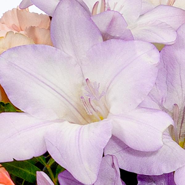 Flower Bouquet Zauberhaft with vase & Ferrero Raffaello