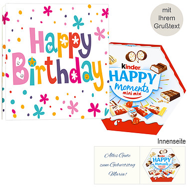Persönliche Grußkarte mit Kinder Happy Moments Mini Mix: Happy Birthday