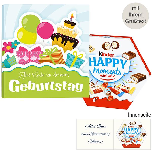 Persönliche Grußkarte mit Kinder Happy Moments Mini Mix: Geburtstag