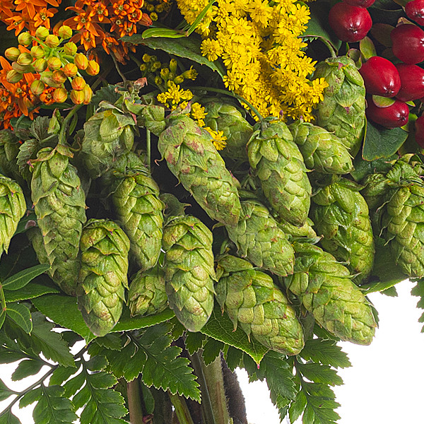 Blumenstrauß Herbstgefühl mit Vase & Ferrero Raffaello