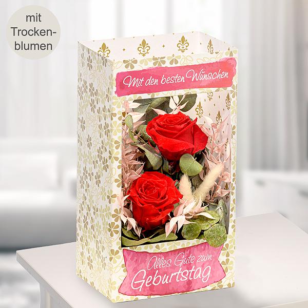 """Blumenfenster """"Mit den besten Wünschen"""""""