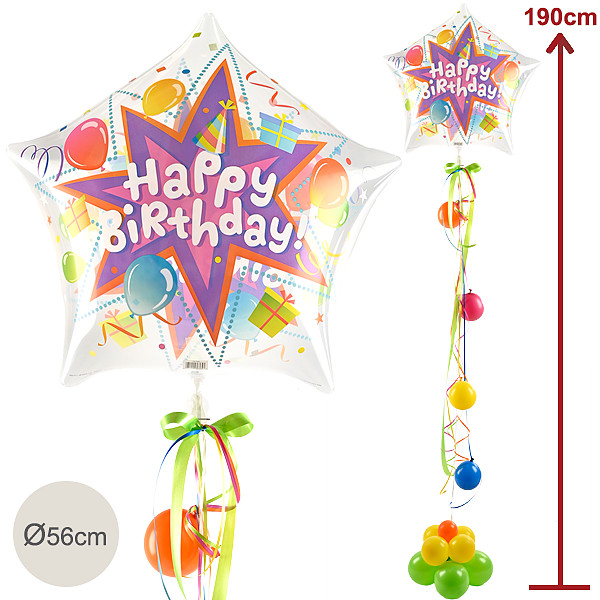 Riesenballon-Präsent Happy Birthday (190cm)