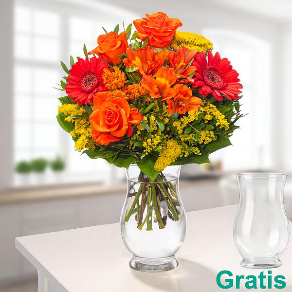 Blumenstrauß Blütenkuss mit Vase
