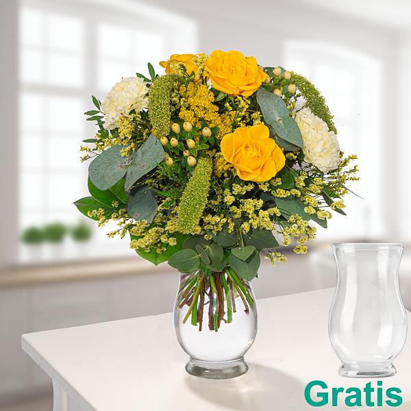 Blumenstrauß Happy Day mit Vase