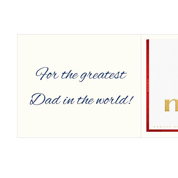 Personal greeting card with Merci: Alles Gute. Für meinen Papa (250g)