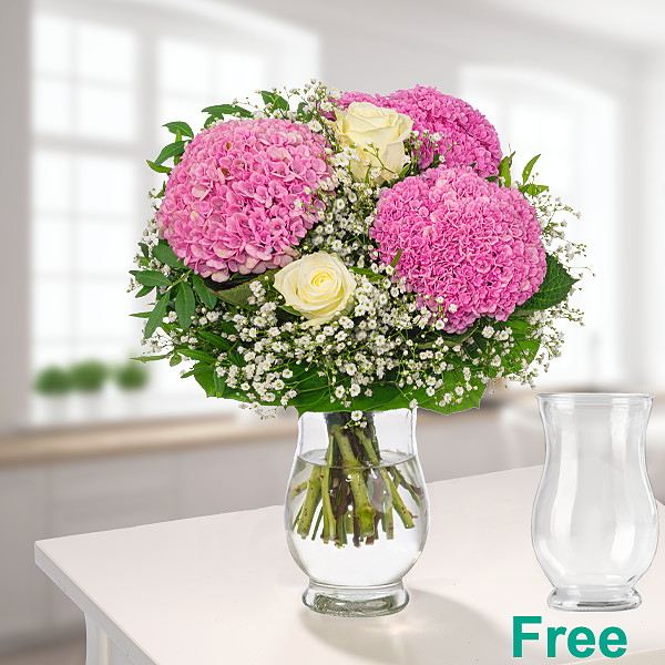 Meadow Bouquet Sommerduft with vase