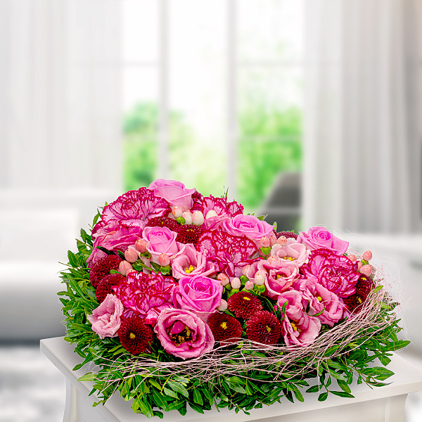 Blumenherz Beste Wünsche