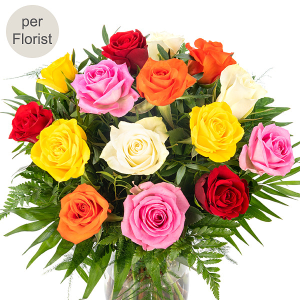 Mixed Coloured Roses