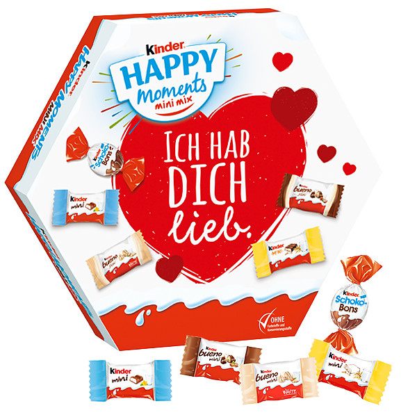 "kinder Happy Moments Mini-Mix ""Ich hab dich lieb"""