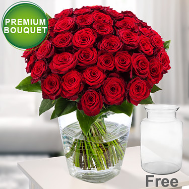 Premium Bouquet Paris with premium vase
