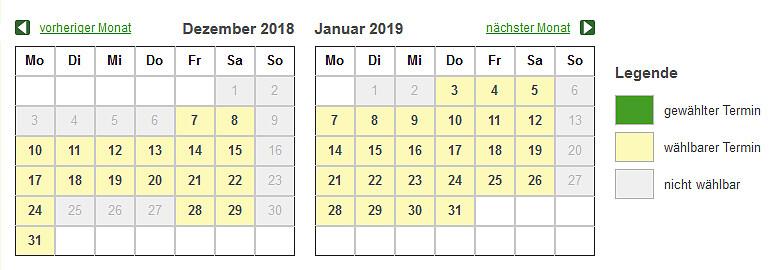 Blumenbestellung Kalender