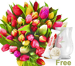 Tulips in a bunch