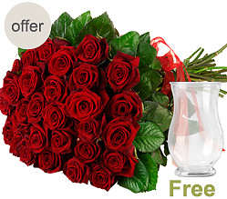 Bunch of 20 red roses