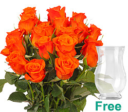 20 orange Fairtrade roses