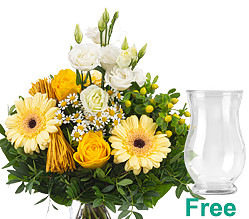 Flower Bouquet Sonnengelb