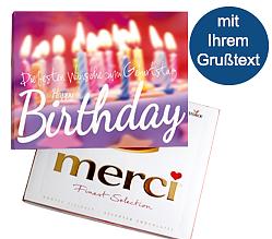 Merci Karte: Happy Birthday