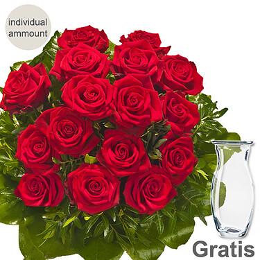 Individual red roses