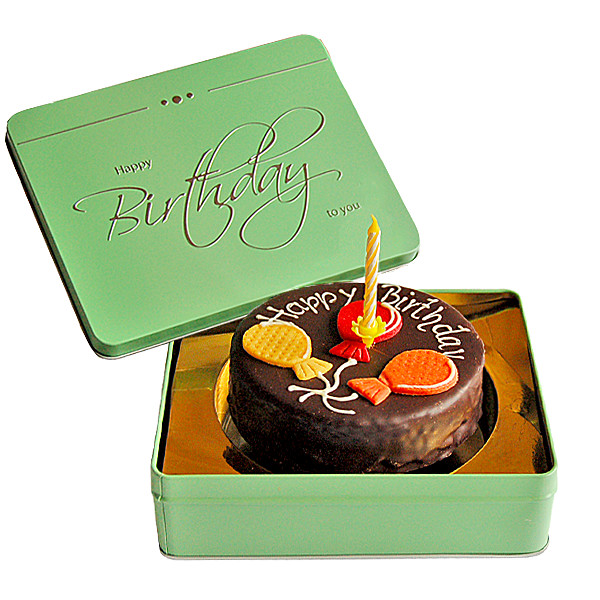 Flora Prima DE Sachertorte Happy Birthday mit Kerze