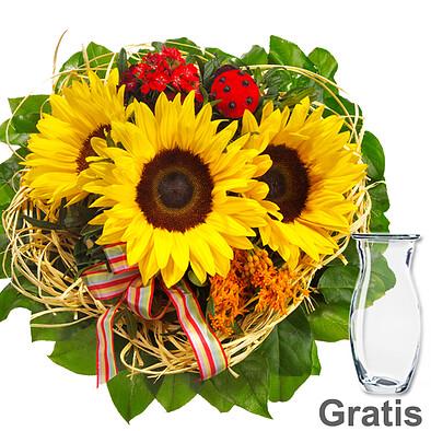 Blumenstrauß Van Gogh mit Vase