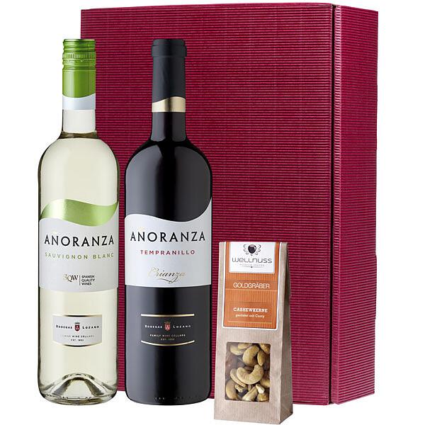 Köstlichgeschenksets - Gourmetset Spanischer Wein und Knabberspaß - Onlineshop FloraPrima
