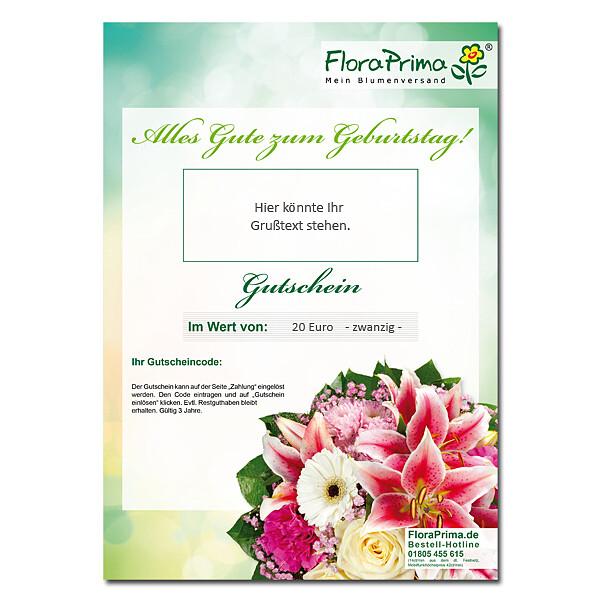 Digitaler Blumengutschein Alles Gute zum Geburtstag BG2005