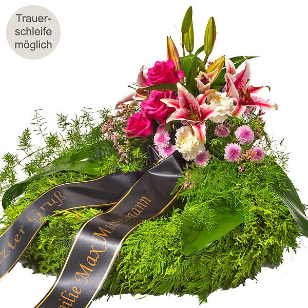 Trauerkranz mit rosa Lilien 1369