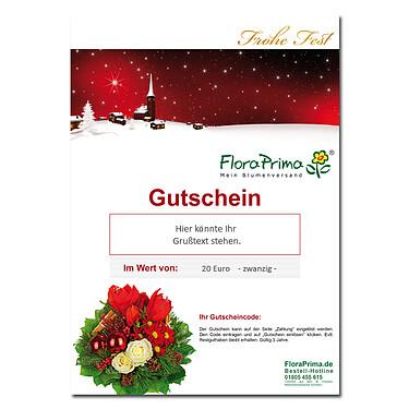 """Digitaler Blumengutschein """"Frohes Fest"""""""