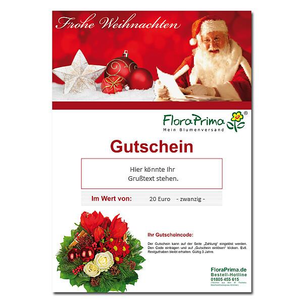 Digitaler Blumengutschein Frohe Weihnachten BG4005