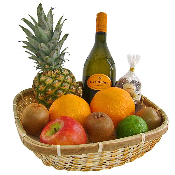 Köstlichgeschenksets - Präsentkorb Gesund und Prickelnd - Onlineshop FloraPrima