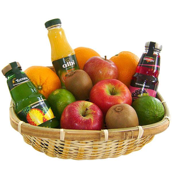 Köstlichgeschenksets - Präsentkorb Obst und Saft - Onlineshop FloraPrima