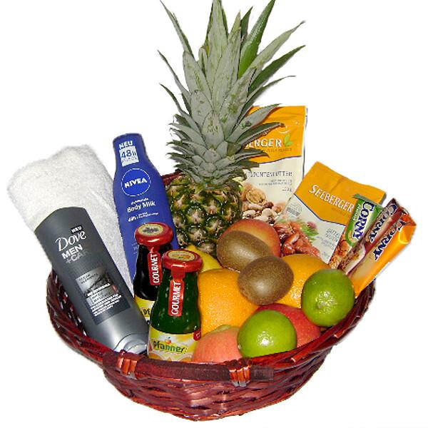 Köstlichgeschenksets - Präsentkorb Fitness für Ihn - Onlineshop FloraPrima
