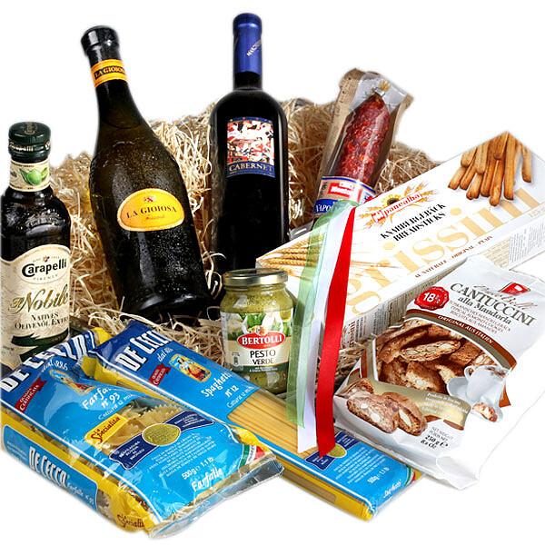 Köstlichgeschenksets - Präsentkorb Bella Italia - Onlineshop FloraPrima
