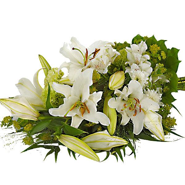 Sympathy Arrangement with lilies