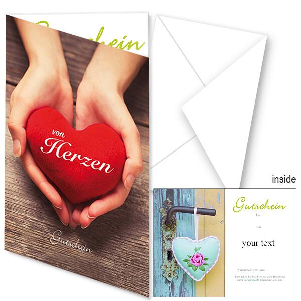 "Gift Certificate ""von Herzen"""