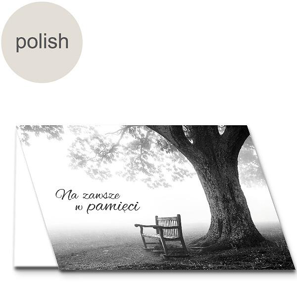 "Polish Greeting Card: ""In silent memory"""