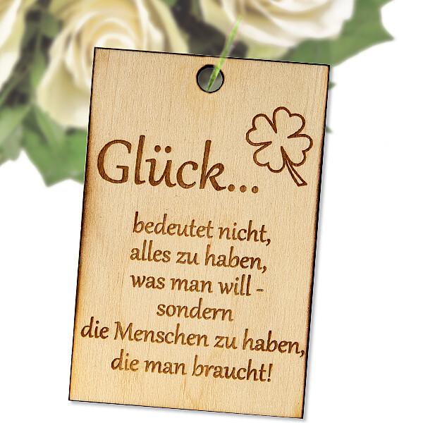 "Flowercard ""Glück"""