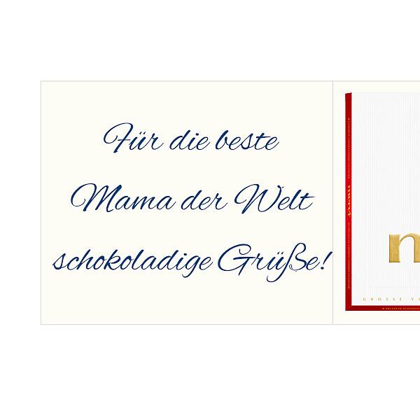 Persönliche Grußkarte mit Merci: Wundervollste Mama (250g)