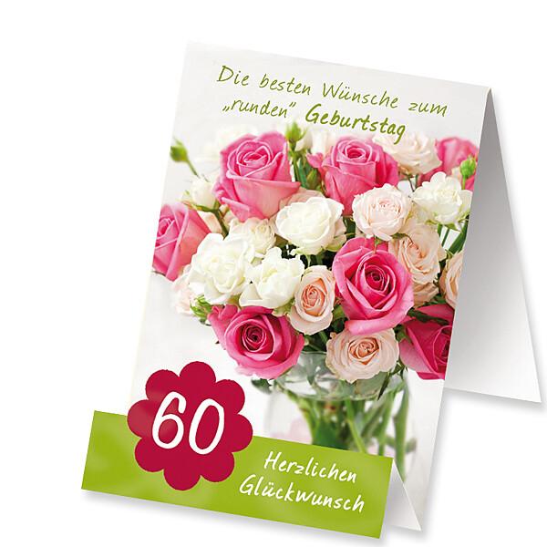 """Aufstellkarte """"Zum 60. Geburtstag"""""""