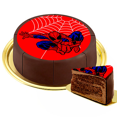 "Motif Cake ""Spiderman"""