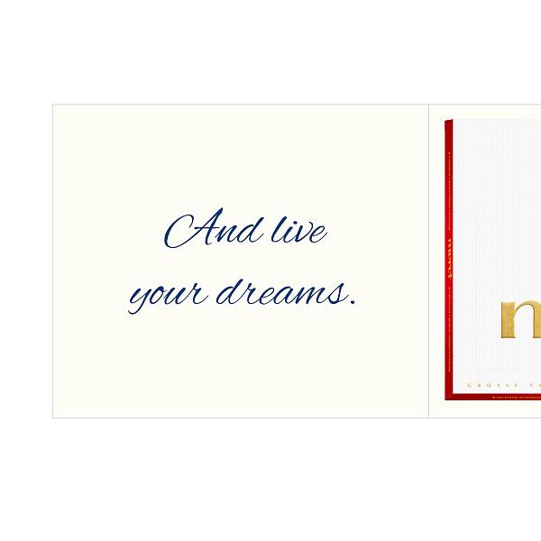 Personal greeting card with Merci: Nimm dir Zeit... (250g)