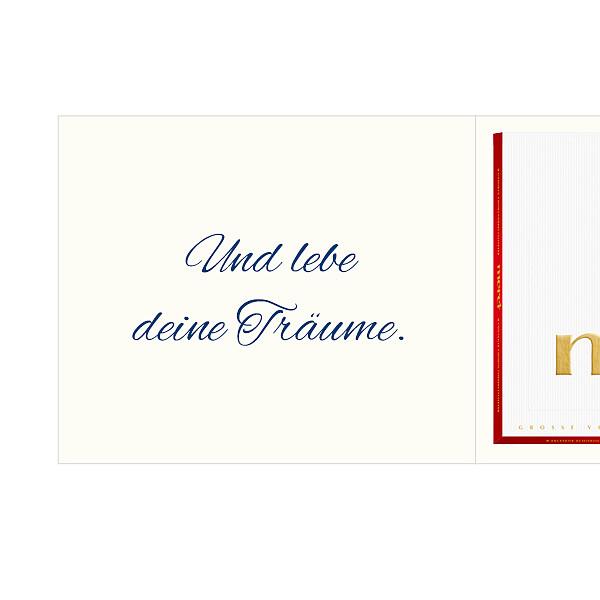 Persönliche Grußkarte mit Merci: Nimm dir Zeit... (250g)