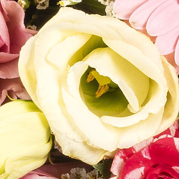 Premiumstrauß Blütenwunder mit Premiumvase