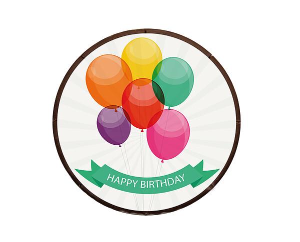 "Dessert Motif Cake ""Happy Birthday"""