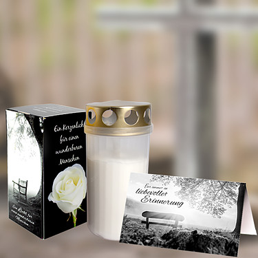 Remembrance Candle incl. Greeting card