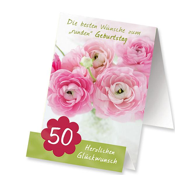 """Aufstellkarte """"Zum 50. Geburtstag"""""""