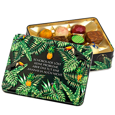 "Gift box ""Chocolate solves no problems..."""
