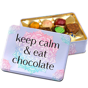 "Gift box ""keep calm and eat chocolate"""