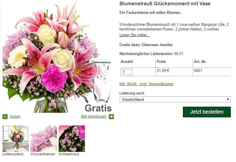 Blumenbestellungen Details