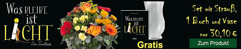 """Buch-Aktion """"Was bleibt, ist Licht"""""""